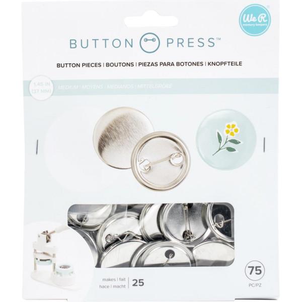 Jasando.ch - Button Press Rohlinge für Button Presse mittel 37mm, 25 Stk.