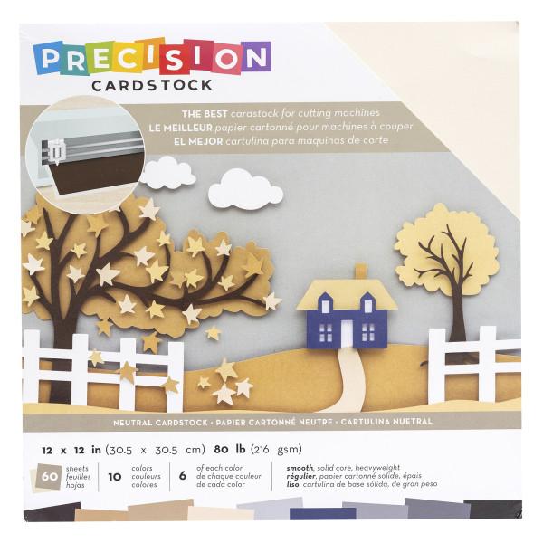 "Jasando.ch - Presicion Cardstock 12"" x 12 "" smooth neutral"