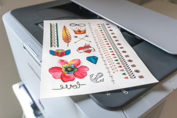 Jasando.ch  - bedruckbares Tattoo Papier Laserdrucker