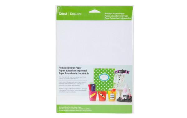 Jasando.ch - Cricut Stickerpapier bedruckbar 12 Stück, weiss