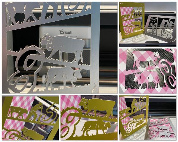 Jasando.ch - Plotterdatei Glückwunschkarte 85 Kuh