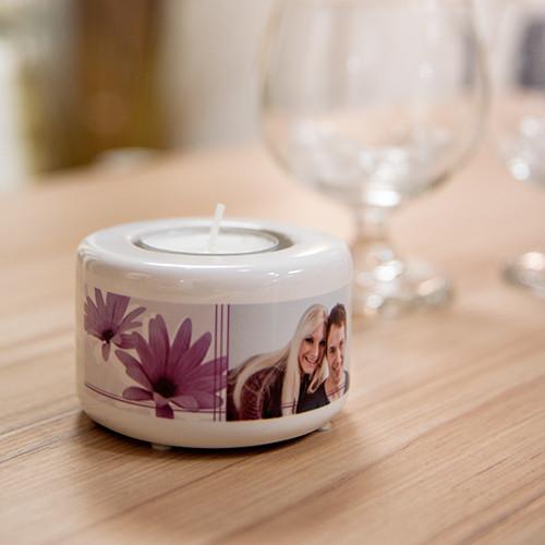Jasando.ch - Teelichthalter Keramik 5cm Sublimation