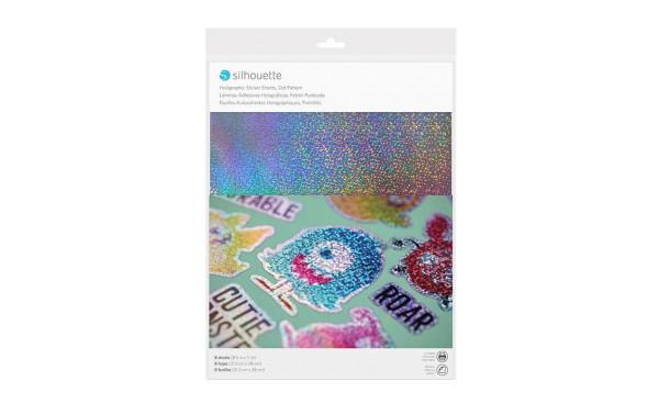 Jasando.ch - Silhouette Stickerpapier Holograpic dots silber
