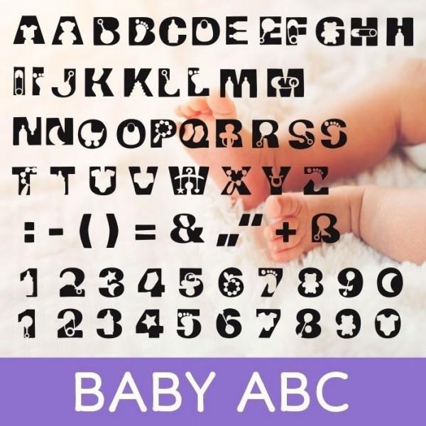Jasando.ch - Plotterdatei BABY ABC ZUM SELBER GESTALTEN ZUR GEBURT / TAUFE