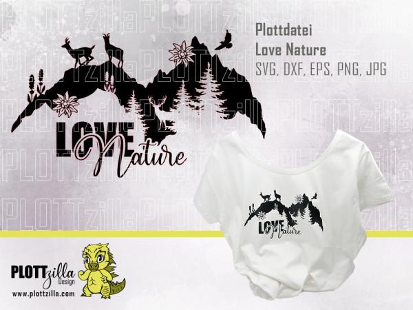 Jasando.ch - Plotterdatei Love Nature