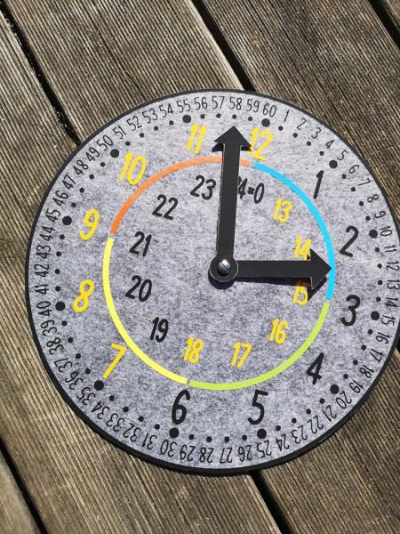 Jasando.ch - Plotterdatei Lernuhr - einfach Uhrzeit lernen
