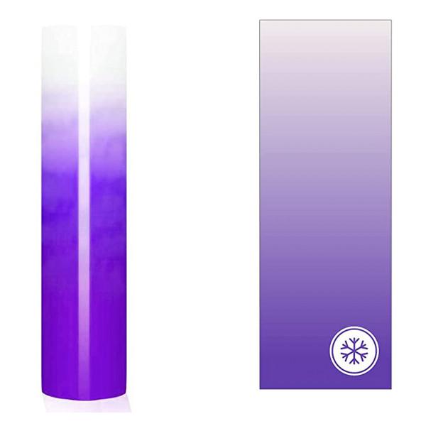 Jasando.ch - Farbwechsel Vinylfolie cold transparentmilchig zu violett