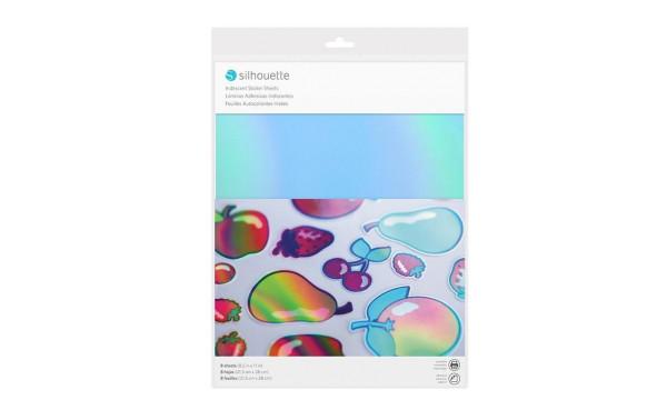 Jasando.ch - Silhouette Stickerpapier irisierend Blau/Hellblau/Lila