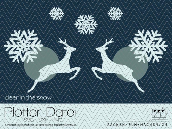 Jasando.ch - Plotterdatei deer-in-the-snow