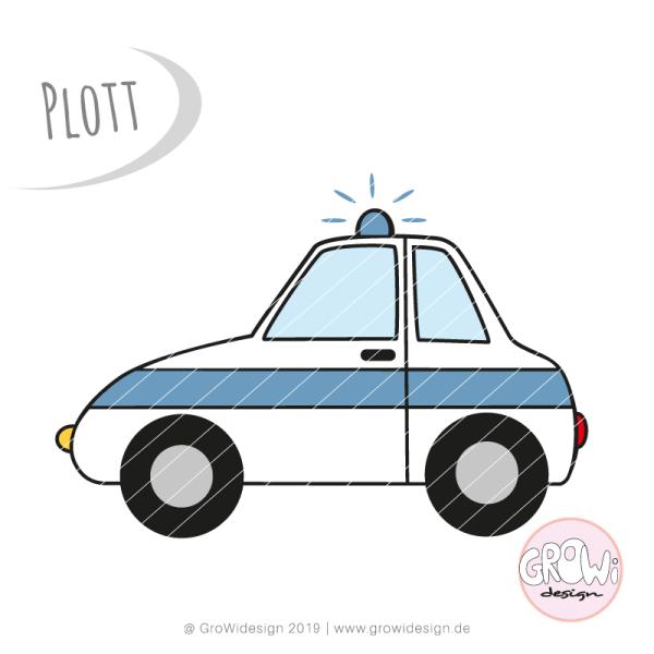 Jasando.ch - Plotterdatei Polizeiauto