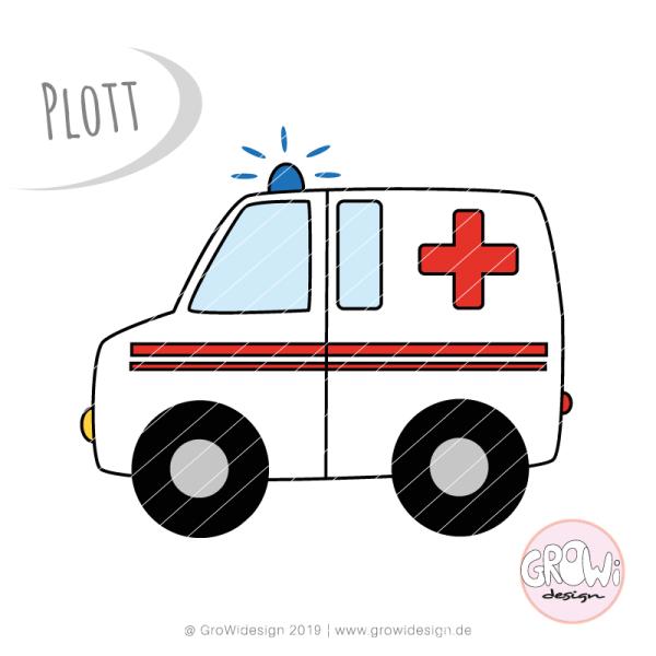 Jasando.ch - Plotterdatei Krankenwagen
