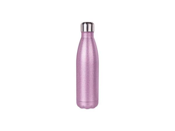 Jasando.ch - Edelstahl Glitter Thermosflasche Fassungsvermögen 500 ml pink
