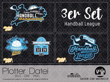 Jasando.ch - Plotterdatei Handball League 3er Set