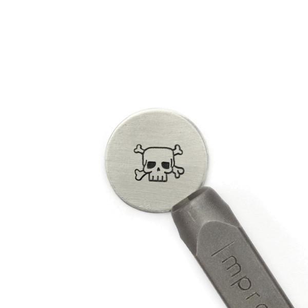 Jasando.ch - ImpressArt Prägestempel Motiv Totenkopf (Skulls and Crossbone) 6mm