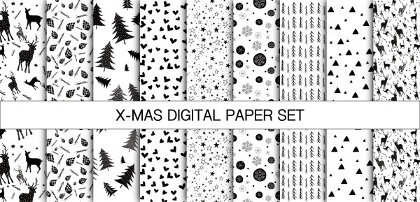 Jasando.ch - X-MAS DIGITAL PAPER SET