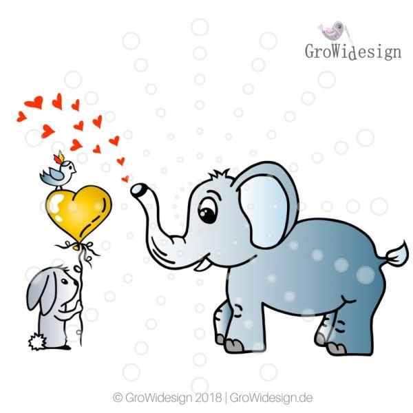 Jasando.ch - Plotterdatei Hase & Elefant