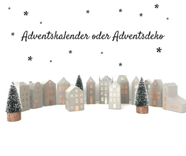 Jasando.ch - Plotterdatei Adventskalender   Adventsdeko   Häuser aus Papier