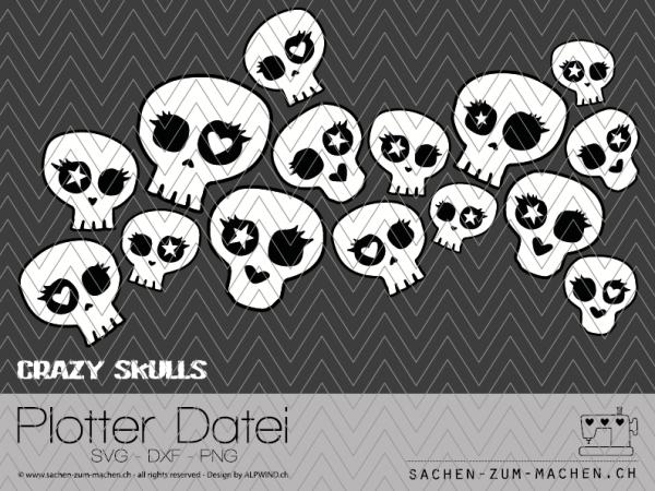 """Jasando.ch - Plotterdatei """"crazy skulls"""""""
