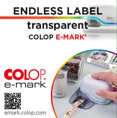 Jasando.ch - COLOP e-mark Endlosetiketten transparent