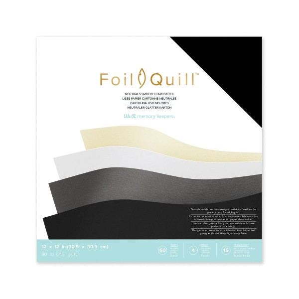 "Jasando.ch - FOIL QUILL Cardstock neutral 12"" x 12 """