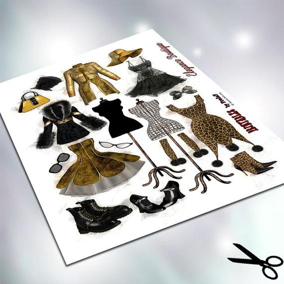 Jasando.ch - elegance boutique Bastelbogen Collagesheet