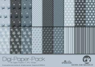 Jasando.ch - Digi-Paper-Pack Hirsch