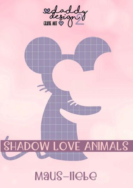 Jasando.ch - Plotterdatei MAUS-LIEBE 2 - SHADOW-LOVE-ANIMALS