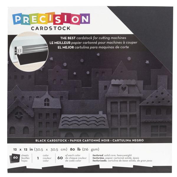 "Jasando.ch - Presicion Cardstock 12"" x 12 "" black"