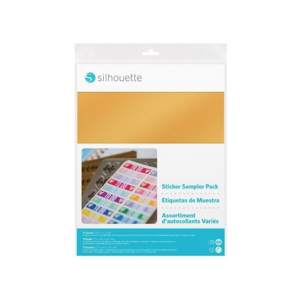 Jasando.ch - Silhouette bedruckbares Sticker Sampler Pack