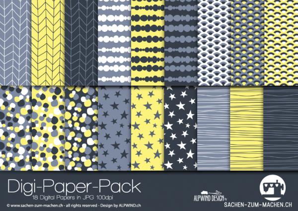 Jasando.ch - Digi-Paper-Pack branche yellow