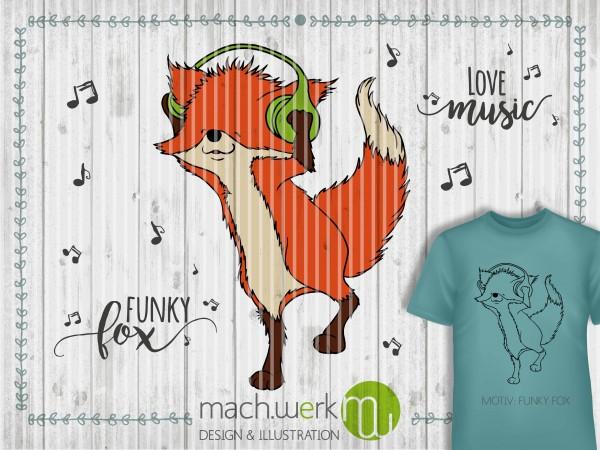 Jasando.ch - Plotterdatei Funky Fox / Fuchs