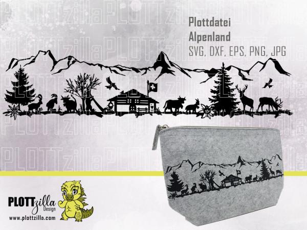 Jasando.ch - Plotterdatei Alpenland