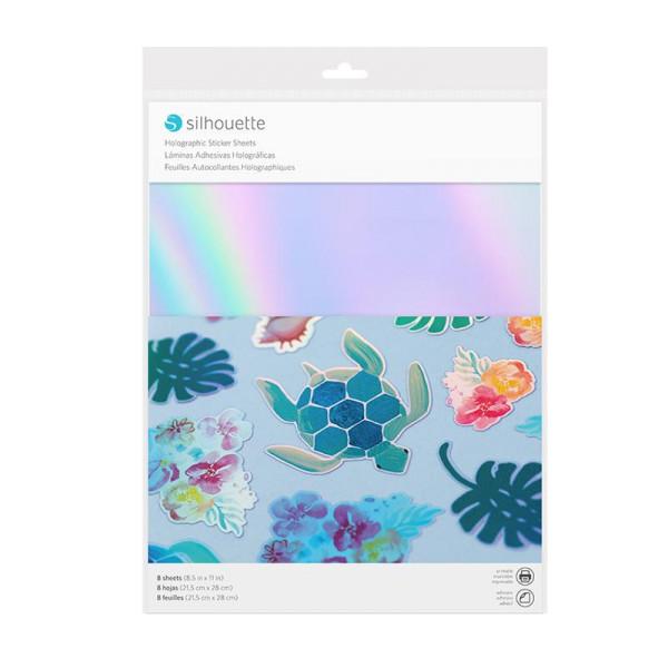 Jasando.ch - Silhouette Stickerpapier holographic mehrfarbig
