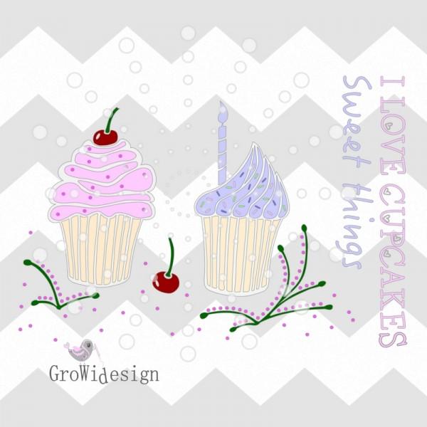 Jasando.ch - Plotterdatei Cupcakes Freebie