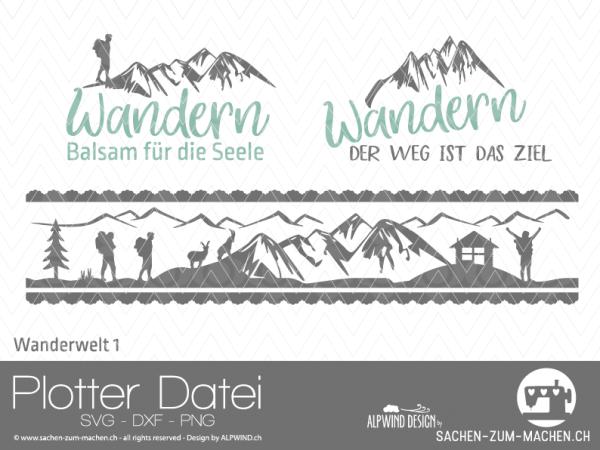 Jasando.ch - Plotterdatei Wanderwelt