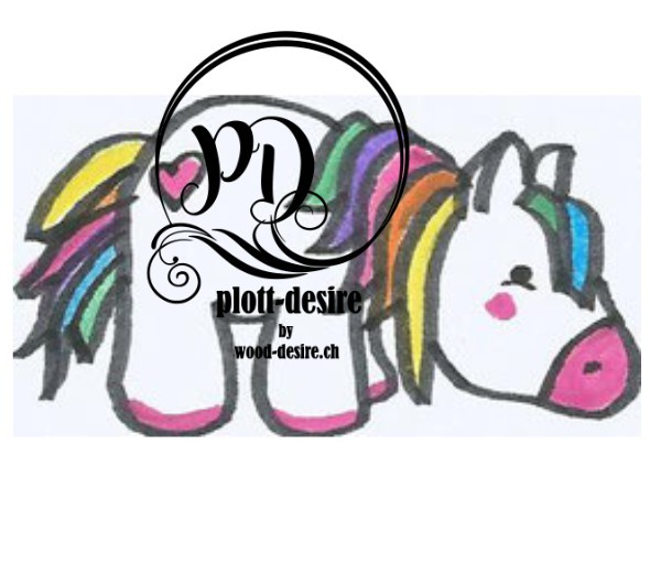 Jasando.ch - Plotterdatei Grosses Regenbogen-Pony Set