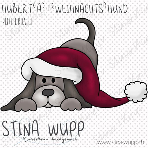 Jasando.ch - Plotterdatei Hubert(a) (Weihnachts) Hund