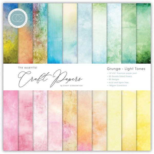 Jasando.ch - Premium Papierblock 180 g/m2 - 12'' x 12'' Grunge - Light Tones