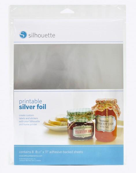 Silhouette bedruckbare Silberfolie