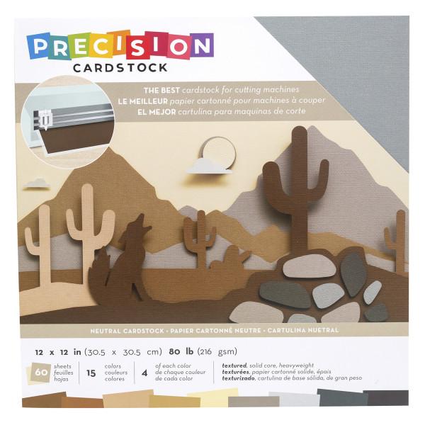 "Jasando.ch - Presicion Cardstock 12"" x 12 "" neutral"