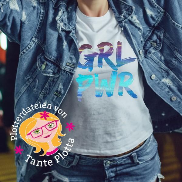 """Jasando.ch - Plotterdatei """"GRLPWR"""" (Girlpower)"""