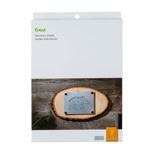 """Jasando.ch - Cricut Aluminium Sheets, 5"""" x 7"""", 2 Stück (12,7 x 17,75cm)"""