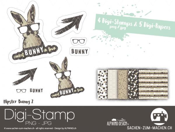 Jasando.ch - Digistamp/Digipaperset Bunny 2