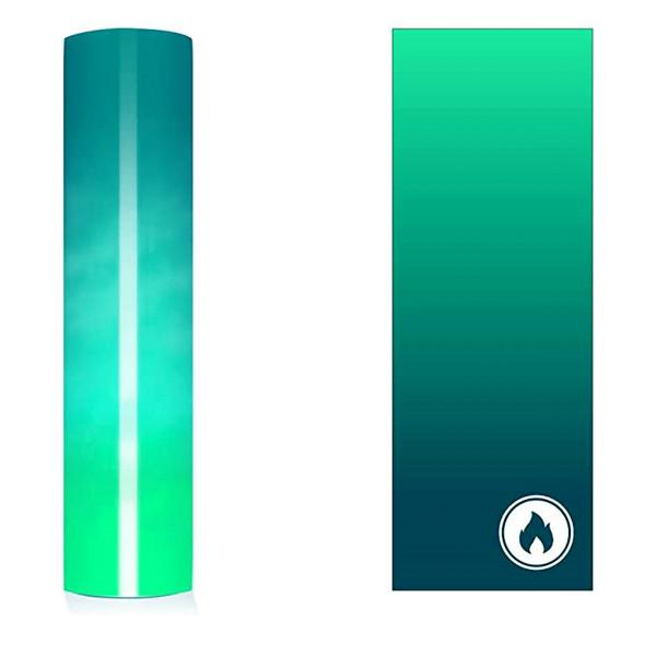 Jasando. ch - Farbwechsel Vinylfolie warm blau zu grün