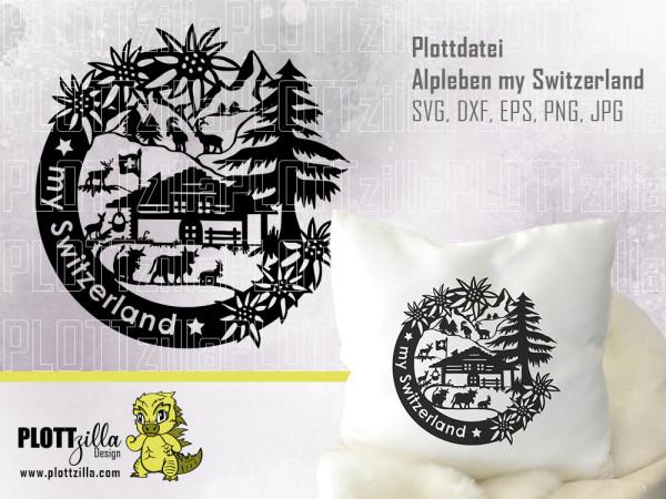 Jasando.ch - Plotterdatei Alpleben my Switzerland