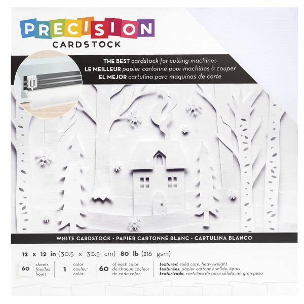"Jasando.ch - Presicion Cardstock 12"" x 12 "" white"
