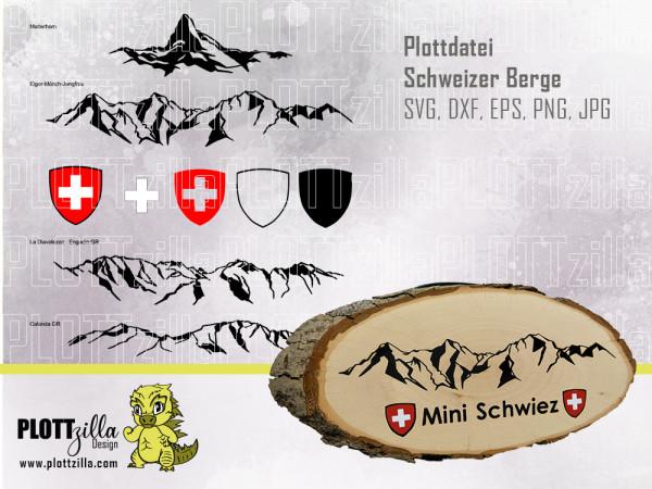 Jasando.ch - Plotterdatei Schweizer Berge