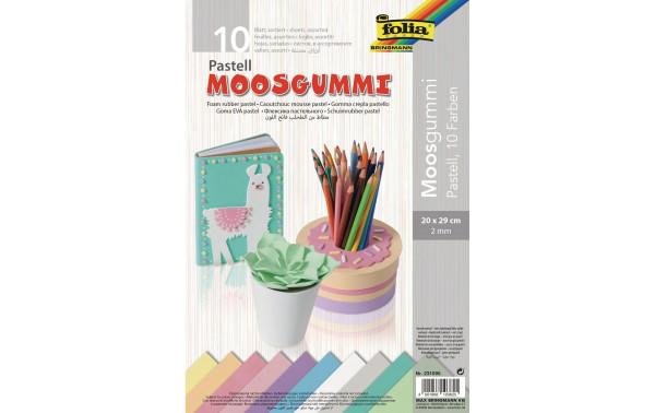 Jasando.ch - Moosgummi-Set Pastell, 10 Stück