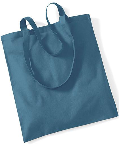 Jasando.ch - Stofftasche Baumwolle mit langen Henkeln, 38 x 42 cm, airforce blue