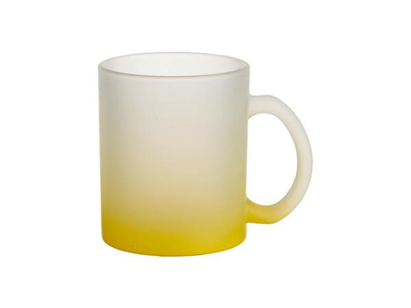 Jasando.ch - Farbverlauf Glastasse satiniert Sublimation gelb